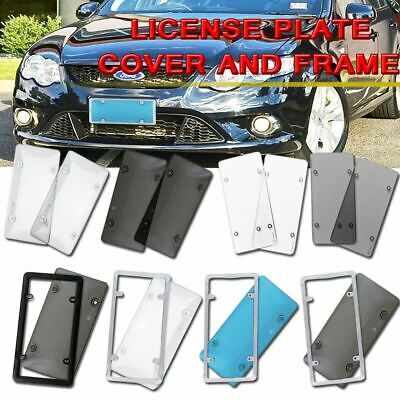 $7.99 • Buy Zone Tech Smoked Clear License- Plate Cover Frame Shield Tinted Bubbled Flat Car