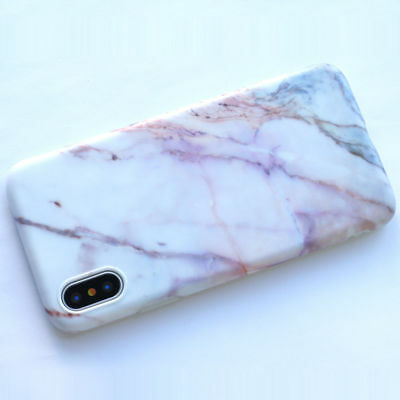 AU13.08 • Buy IPhone X Marble Granite Texture Case High Quality Gel Rubber Purple White New