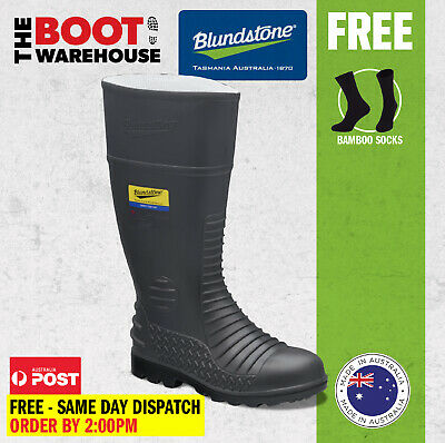 AU61.95 • Buy Blundstone Work Boots. 025 Safety Gumboots. Grey Nitrile Rubber. Premium Comfort