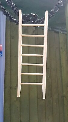 £4.50 • Buy Handmade Wooden Ladder For All Birds, Rodents, Rabbits And Guinea Pigs