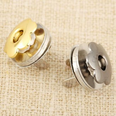 £2.83 • Buy 5 Sets Gold/Gun Black Thin Magnetic Snaps Purse Bags Press Buckles Buttons 17mm