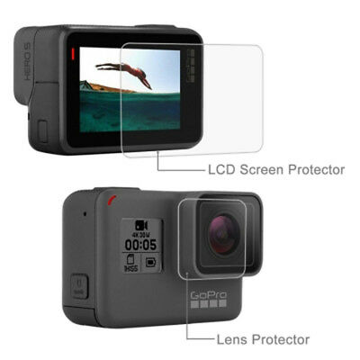 $ CDN17.49 • Buy New Lens HD Screen Protector + LCD Dispaly Tempered Glass Film For GoPro HERO6 5