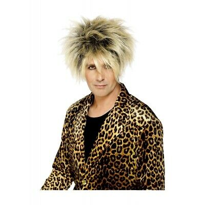 Rod Stewart Wig Adult Mens 80s Costume Accessory Fancy Dress • 13.89  d4d04a02c25