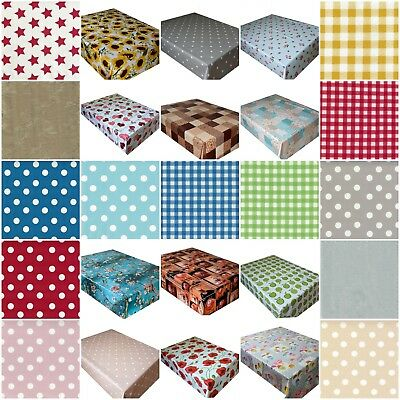 £4.75 • Buy Wipe Clean PVC Tablecloth Vinyl Oilcloth Kitchen Outdoor Table Cover Protector