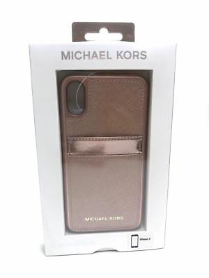 dce3d5b47822 Michael Kors Saffiano Leather Pocket Case For IPhone X Ballet Rose Gold NEW  • 23.95$