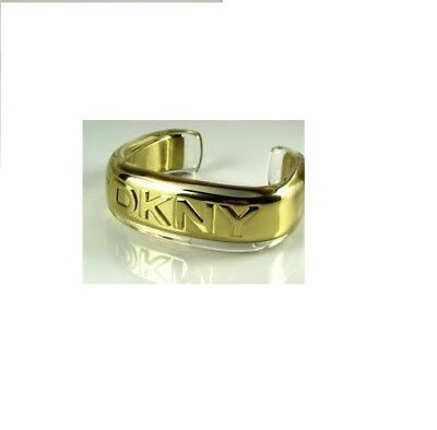 New Genuine DKNY Stainless Steel And Resin Gold Logo Cuff Bangle NJ1205 £80 • 40£