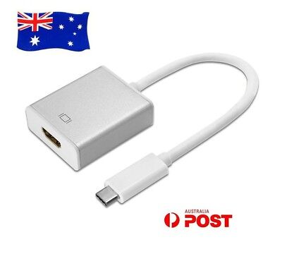 AU14.55 • Buy USB-C Type C USB 3.1 Male To HDMI Female HDTV 1080p Adapter Cable Cord AU Stock