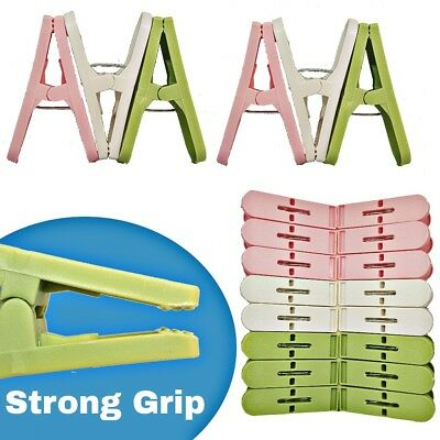 £3.99 • Buy 24 X Super Strong Long Plastic Grip Clothes Washing Line Laundry Air Dry Pegs UK