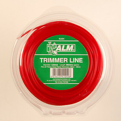 ALM 3mm X 58M Red Trimmer Strimmer Line Wire Cord Heavy Duty Petrol SL016 • 9.99£