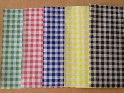 Quality Gingham Duplex Paper Food Wrap Greaseproof Chip Basket Liners 250x375mm  • 6.99£