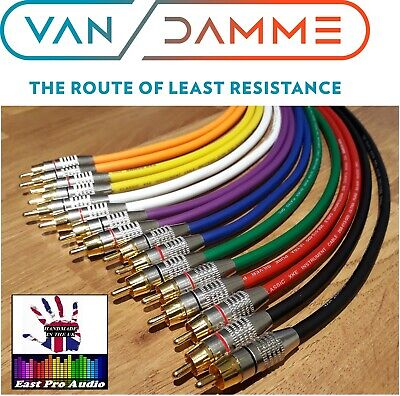 £19.95 • Buy Van Damme RCA CABLE PAIR Silver Plated OFC - PRO GRADE Multi Listing
