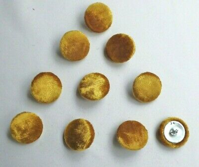 £3.75 • Buy 10 X Upholstery Buttons In GOLD - CRUSHED GLITZ VELVET (Size: 25mm)