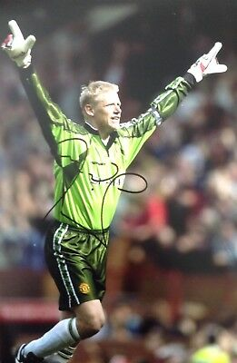 Peter Schmeichel Authentic Signed Man Utd 12x8 Photo Aftal#198 • 79.99£