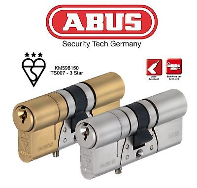 £18.99 • Buy ABUS TS007 3 Star High Security Anti Snap Euro Cylinder Lock - Various Sizes