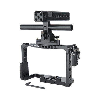 AU110.49 • Buy NICEYRIG A7R3 Camera Cage With Handle Grip Cable Clamp For DSLR Sony A9II A7SII