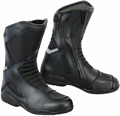 £49.99 • Buy Motorbike Motorcycle Leather Boots Bike Riding Shoes Waterproof Armoured Black