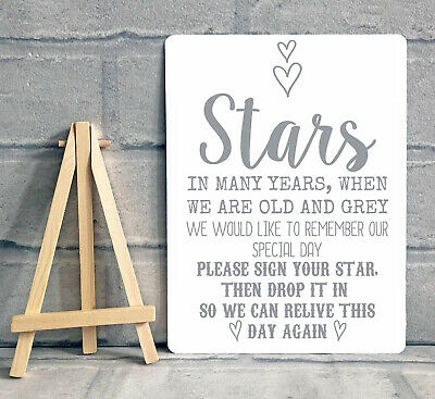 £8.95 • Buy A5 Guest Book Wishing Tree Star Drop Box Metal Table Sign Wedding Party
