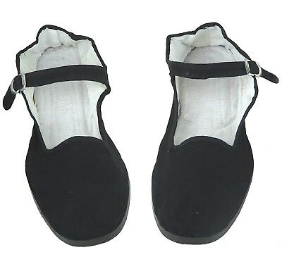 Women's Chinese Mary Jane Cotton Shoes Slippers In Black - Sizes 35 - 42 New • 4.49£