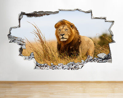 Wall Stickers Lion Tiger Safari Zoo Animal Decal Poster 3D Art Vinyl Room A101 • 12.99£