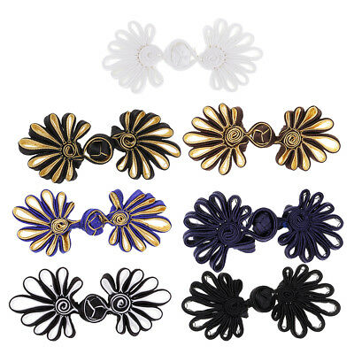 £4.73 • Buy 5 Pairs Flower Frog Knot Closure Button Fastener Crafts For Clothes Bag Decor