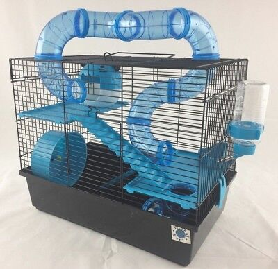 £37.49 • Buy Bernie Large Dwarf Hamster Small Pet Cage 3 Tier With Tubes - Blue Or Pink