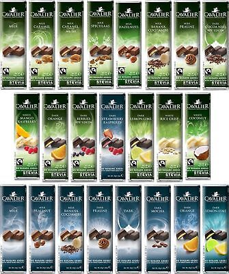 Cavalier Belgium Chocolate Collection (40g-125g) No Added Sugar • 3.64£