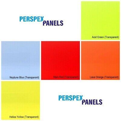 £3.60 • Buy Perspex Edgelit Tinted Neon Colour Acrylic Panels 3mm Cut To Size Plastic Sheet
