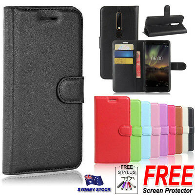 AU7.29 • Buy For Nokia 7 Plus 2018 Premium PU Leather Wallet Flip Phone Protective Case Cover