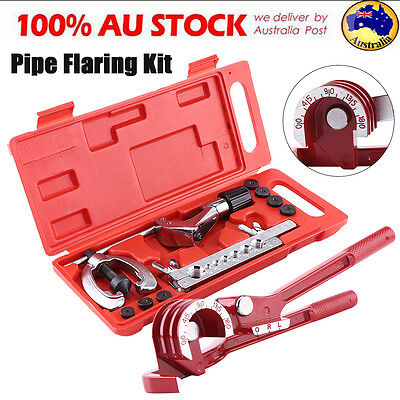 AU37.95 • Buy 10Pcs Brake Air Line Double Flare Flaring Tool Kit Set + 3 In 1 Tube Pipe Bender
