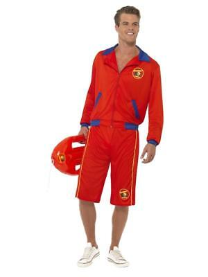 £32.99 • Buy MEN's 90'S BAYWATCH BEACH MEN'S LIFEGUARD COSTUME, WITH JACKET AND LONG SHORTS