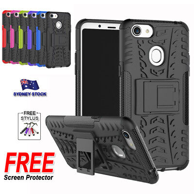 AU9.99 • Buy For OPPO A73 / F5 Heavy Duty Armor Hard Soft Silicone Kickstand Cover Case