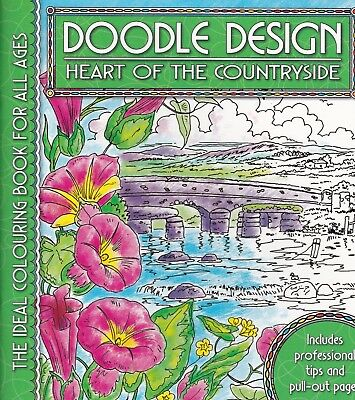 Heart Of The Countryside Colouring Book - Doodle Design - Art Therapy, New • 4.49£