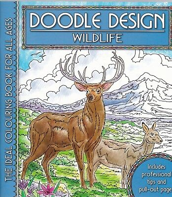 Wildlife Colouring Book - Doodle Design - Art Therapy, New • 4.49£
