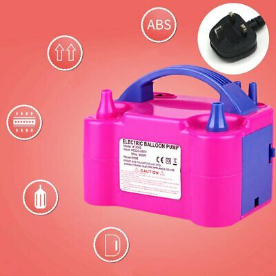 £19.89 • Buy Electric Balloon Pump Portable High Power 240V 600W Home Decoration Party