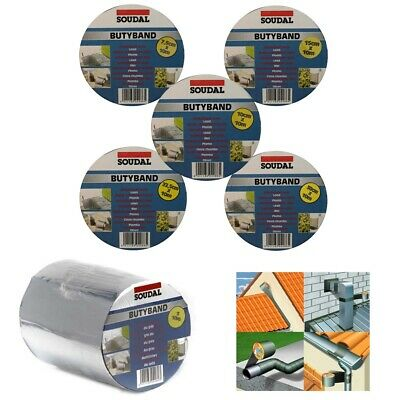 Soudal Butyband Flashing Tape - Self Adhesive Flashband - Roof Seal Tape Lead  • 18.95£