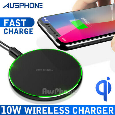 AU9.85 • Buy Fast Charging QI Wireless Charger Pad Mat Receiver For  IPhone XS MAX Samsung S9