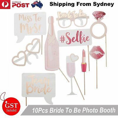 AU7.99 • Buy 10x Rose Rold Bride To Be Photo Booth Prop Hens Bridal Party Bachelorette Selfie