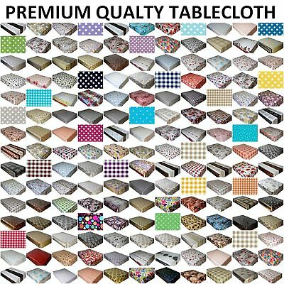 £6.89 • Buy Wipe Clean Pvc Tablecloth Vinyl Oilcloth Table Cloth Table Cover Protector