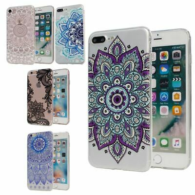 AU5.39 • Buy Mandala Print Clear Bumper Hard Cover For Apple IPhone 5 6S 7 Plus 8 XS SE Case