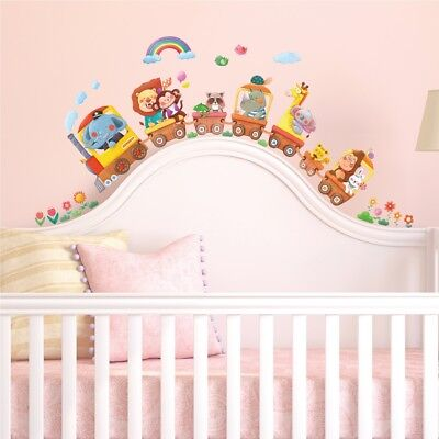 £9.95 • Buy Decowall Animals Train Nursery Kids Removable Wall Stickers Decal DS-8024