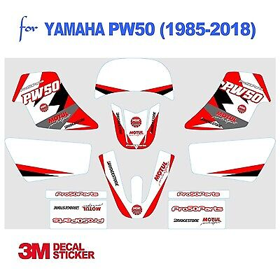 AU29.99 • Buy Yamaha PW50 Red Decal Sticker Graphics 3M Professional Vinyl Decal