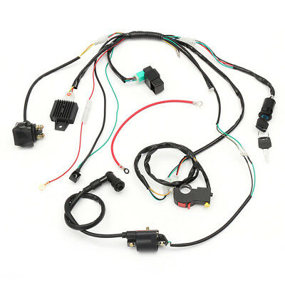 $38.60 • Buy CDI Engine Electric Start Harness Kit Stator Assembly For Motoworks 125cc Sports