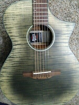 $300 • Buy New IBANEZ AEWC32FM-GBK 6 STRING EXOTIC Acoustic-Electric FLAME TOP