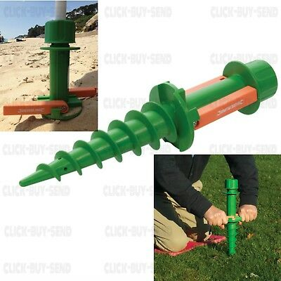£10.74 • Buy Ground Spike Easy Fit Removable Earth Anchor Parasols Rotary Clothes Line Airers