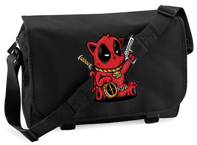 Deadpool Kitty Cat Cute Messenger Bag • 15.99£