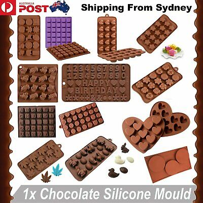 AU5.99 • Buy 80 Styles Silicone Mould Cake Ice Tray Jelly Candy Cookie Chocolate Baking Mold