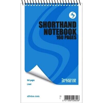 """£4.47 • Buy 3 X 160 Page Reporters Pad Notepad Note Pad  Notebook Shorthand Books 8"""" X 5"""""""