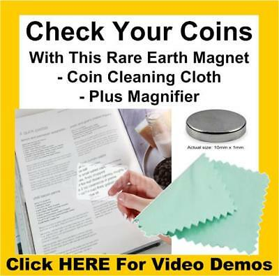 Rare Earth Neodymium Testing Magnet Pure/925/999 Silver Solid Gold Coins Tester • 4.95£