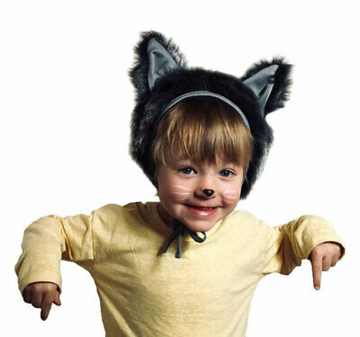 £6.95 • Buy Animal Wolf Or Cat Fancy Dress Hat Children Unisex Costume Carnival Party