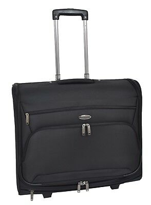 Suit Carrier Travel Garment Dress Bag With Wheels Large Capacity H954 Black • 98.99£